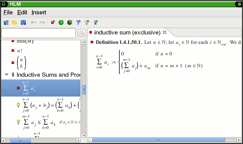 Generalized sum in the usual notation, with bound variable